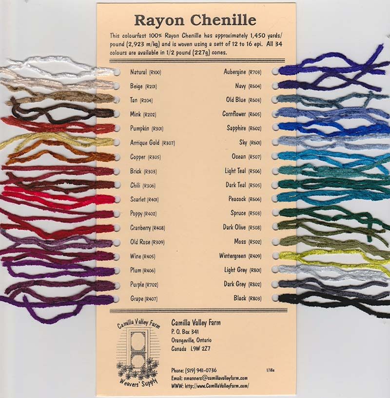 Rayon Chenille Yarn for Weaving