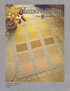 Sept Oct 1994 Handwoven Weaving Magazine Holiday Cheer Crackle Weave Boundweave