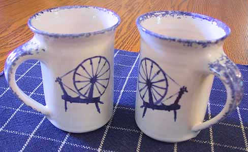 Spinning Wheel Mugs